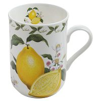 Hrnek z kostního porcelánu Maxwell & Williams Orchard Fruits Lemon, 320 ml