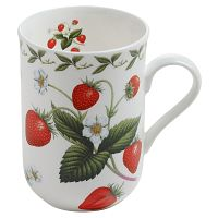 Hrnek z kostního porcelánu Maxwell & Williams Orchard Fruits Strawberry, 320 ml