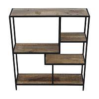 Knihovna z mahagonového dřeva HSM collection Levels, 70 x 80 cm
