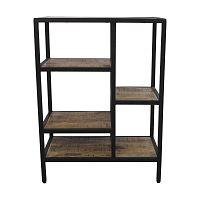 Knihovna z mahagonového dřeva HSM collection Levels, výška 80 cm