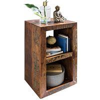 Knihovna z recyklovaného mangového dřeva Skyport DELHI, 45 x 35 cm