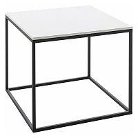 Konferenční stolek s bílou deskou Støraa Castana, šířka60cm