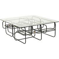 Konferenční stolek s černým podnožím Kare Design Meander