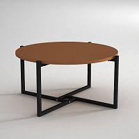 Konferenční stolek s deskou v koňakově hnědé barvě Noce, ⌀ 68 cm