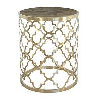 Konferenční stolek s deskou z recyklovaného elmového dřeva Livin Hill Glamour, ⌀50cm