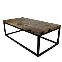 Konferenční stolek s deskou  z teakového dřeva HSM collection Resin