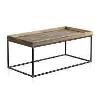 Konferenční stolek s kovovou konstrukcí a dřevěnou deskou Geese, 120 x 60 cm