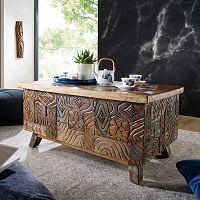 Konferenční stolek z recyklovaného dřeva Skyport CARVED