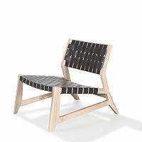 Křeslo s konstrukcí z dubového dřeva a koženým výpletem Wewood - Portuguese Joinery Odhin
