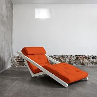 Lenoška Karup Figo, White/Orange, 70 cm