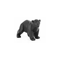 Matně černá soška PT LIVING Origami Bear, výška11cm