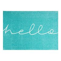 Modrá rohožka Mint Rugs StateMat Hello,50x70cm