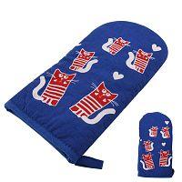 Modrá teflonová rukavice s magnetem Orion Kočky