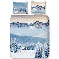 Modré povlečení na jednolůžko Good Morning Mountains, 140 x 200 cm