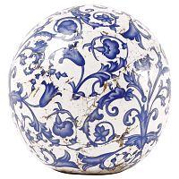 Modro-bílá keramická dekorace Esschert Design, ⌀ 12 cm