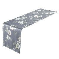 Modrý běhoun na stůl Unimasa Deed Polyester Blue, 45 x 150cm