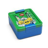 Modrý box na svačinu se zeleným víčkem LEGO® Iconic