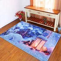 Modrý koberec Vitaus Lantern, 120 x 160 cm