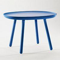 Modrý odkládací stolek z masivu EMKO Naïve Large