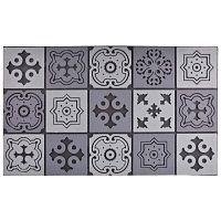 Mozaiková šedá rohožka Ego Dekor Geometry, 45,5x76cm