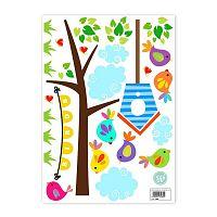 Nástěnné samolepky Little W Happy Spring, 29,7 x 42 cm