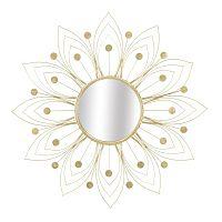 Nástěnné zrcadlo ve zlaté barvě Mauro Ferretti Glam, ⌀80cm