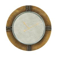 Nástěnné zrcadlo ve zlaté barvě Mauro Ferretti Orologio