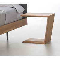 Noční stolek z olejovaného dubového dřeva Mazzivo Alpha
