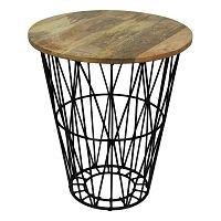 Odkládací stolek s deskou  z mangového dřeva HSM collection Tower, ⌀45cm