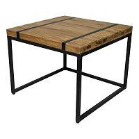 Odkládací stolek s deskou  z teakového dřeva HSM collection Bridge, šířka70cm