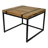Odkládací stolek s deskou  z teakového dřeva HSM collection Bridge, šířka80cm