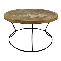 Odkládací stolek s deskou  z teakového dřeva HSM collection Mosa, ⌀ 80cm
