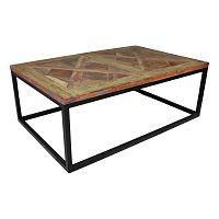 Odkládací stolek s deskou  z teakového dřeva HSM collection Mozaik, 70x110cm