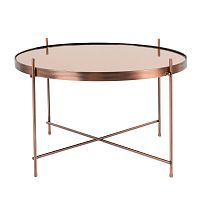Odkládací stolek v měděné barvě Zuiver Cupid