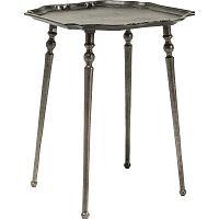 Odkládací stolek v tmavě stříbrné barvě Kare Design Endris