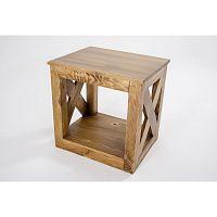 Odkládací stolek z borovicového masivu Macapa
