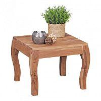 Odkládací stolek z masivního akáciového dřeva Skyport KILA