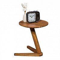 Odkládací stolek z masivního sheeshamového dřeva Skyport BOHA, ⌀ 45 cm