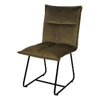 Olivově zelená jídelní židle se sametovým potahem HSM collection Estelle