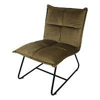 Olivově zelená židle se sametovým potahem HSM collection Estelle