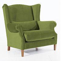 Olivově zelené křeslo Max Winzer Harvey Velvet
