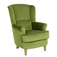 Olivově zelené křeslo Max Winzer Kendra Velvet