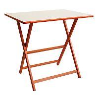 Oranžový dřevěný skládací stůl Valdomo Papillon, 60x80cm