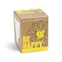 Pěstitelský set se semínky slunečnice Gift Republic Be Happy