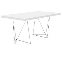 Pracovní/jídelní stůl Trestle, délka 160 cm, bílý
