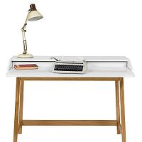Pracovní stůl s bílou deskou Woodman St. James