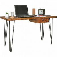 Pracovní stůl z masivního sheeshamového dřeva Skyport BAGLI