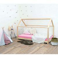 Přírodní dětská postel bez bočnic ze smrkového dřeva Benlemi Tery, 90 x 160 cm