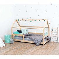 Přírodní dětská postel s bočnicemi ze smrkového dřeva Benlemi Tery, 90 x 160 cm