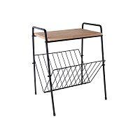 Příruční stolek na časopisy z kovu a dřeva PT LIVING